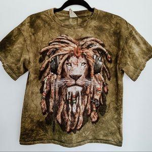 Bob Marley Lion Headphone Dreadlocks T-Shirt